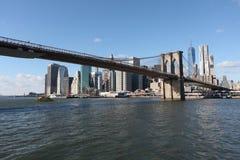 Ponte di Brooklyn e Manhattan New York, S Immagine Stock