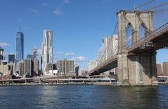 Ponte di Brooklyn e Manhattan New York, S Immagine Stock Libera da Diritti