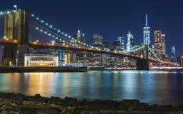 Ponte di Brooklyn e Manhattan più basso fotografie stock