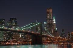 Ponte di Brooklyn e orizzonte di Manhattan Immagine Stock Libera da Diritti