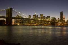 Ponte di Brooklyn a Manhattan Fotografie Stock Libere da Diritti