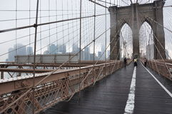 Ponte di Brooklyn Manhattan, jork nowy Fotografia Stock