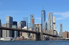 Ponte di Brooklyn in New York Fotografia Stock Libera da Diritti