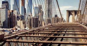Ponte di Brooklyn in New York Fotografie Stock Libere da Diritti