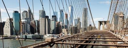 Ponte di Brooklyn in New York Fotografia Stock