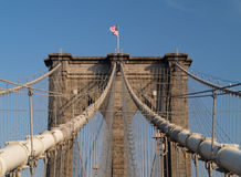 Ponte di Brooklyn a New York. Fotografie Stock