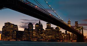 Ponte di Brooklyn, New York Fotografia Stock