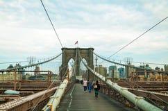 Ponte di Brooklyn in New York Immagini Stock