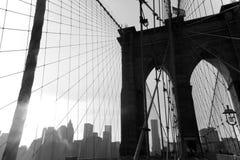 Ponte di Brooklyn New York fotografia stock libera da diritti