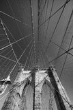 Ponte di Brooklyn in New York Fotografie Stock Libere da Diritti