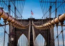 Ponte di Brooklyn, New York Immagine Stock Libera da Diritti