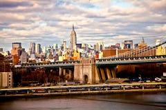 Ponte di Brooklyn, New York Fotografia Stock Libera da Diritti