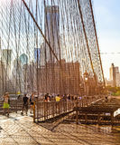 Ponte di Brooklyn a New York Fotografia Stock
