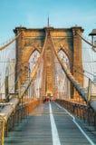 Ponte di Brooklyn in New York Immagini Stock Libere da Diritti