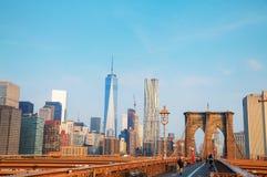 Ponte di Brooklyn in New York Fotografia Stock Libera da Diritti