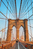 Ponte di Brooklyn in New York Immagine Stock