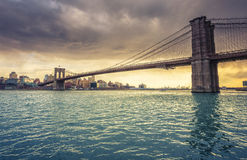 Ponte di Brooklyn New York Fotografia Stock Libera da Diritti
