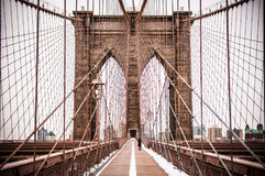 Ponte di Brooklyn, New York fotografie stock libere da diritti