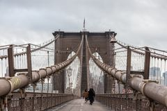 Ponte di Brooklyn, New York City fotografia stock libera da diritti