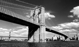 Ponte di Brooklyn a New York City Fotografie Stock Libere da Diritti