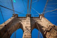 Ponte di Brooklyn, New York City Fotografia Stock Libera da Diritti