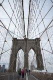 Ponte di Brooklyn, New York City Fotografie Stock Libere da Diritti