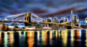 Ponte di Brooklyn, New York illustrazione di stock