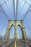Ponte di Brooklyn - New York - gli S.U.A. Fotografia Stock Libera da Diritti