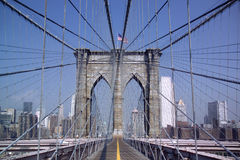 Ponte di Brooklyn - New York - gli S.U.A. immagine stock