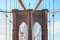 Ponte di Brooklyn in New York, NY, U.S.A. Fotografia Stock Libera da Diritti
