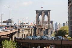 Ponte di Brooklyn, New York, S Immagine Stock Libera da Diritti
