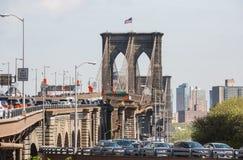 Ponte di Brooklyn, New York, S Fotografie Stock