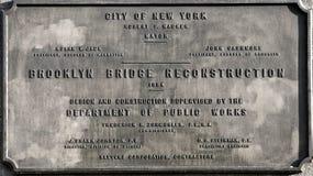 Ponte di Brooklyn, New York, S.U.A. Fotografie Stock Libere da Diritti