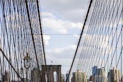 Ponte di Brooklyn, New York, Stati Uniti Fotografia Stock Libera da Diritti