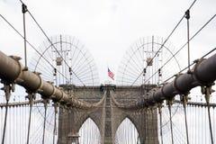 Ponte di Brooklyn, New York, Stati Uniti Fotografia Stock