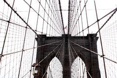 Ponte di Brooklyn, New York, U.S.A. 09 2017 Fotografia Stock Libera da Diritti