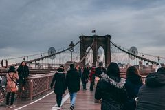 Ponte di Brooklyn nuovo Yorke fotografie stock libere da diritti