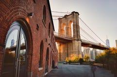 Ponte di Brooklyn, NYC fotografia stock