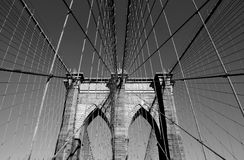 Ponte di Brooklyn in NYC Fotografia Stock Libera da Diritti