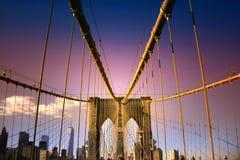 Ponte di Brooklyn in NYC Immagine Stock Libera da Diritti