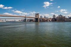 Ponte di Brooklyn scenico fotografia stock