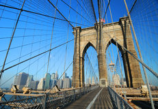 Ponte di Brooklyn scenico Immagine Stock