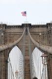 Ponte di Brooklyn in su 2 vicini fotografia stock libera da diritti