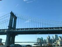 Ponte di Brooklyn: Vista di New York 2016 dal FDR Immagine Stock