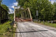 Ponte di capriata storico che è ristabilito in Pensilvania fotografia stock libera da diritti
