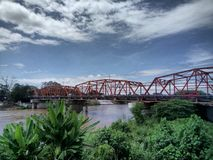 Ponte di Carmen, Cagayan de Oro Filippine Immagine Stock