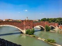 Ponte di Castelvecchio, Verona, Italia fotografia stock libera da diritti