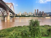 ponte di chaotianmen Fotografia Stock