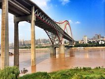 ponte di chaotianmen Immagini Stock Libere da Diritti