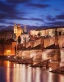 Ponte di Charles e cattedrale della st Vitus, Praga, repubblica Ceca Fotografie Stock Libere da Diritti